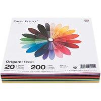 Paper Poetry Origami basic 20x20cm 200 Blatt 20 Farben