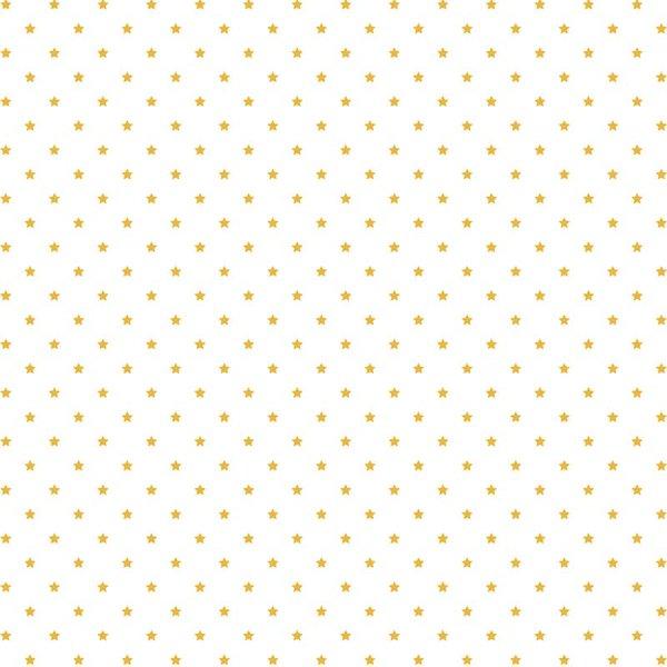 Rico Design Stoff Sterne weiß-gold 140cm