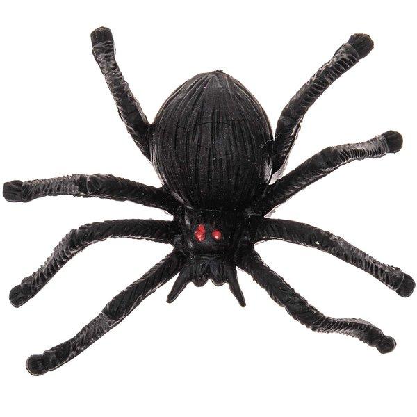 Deko-Spinne schwarz 6,5cm 6 Stück