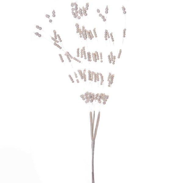 Perlenrispe lang weiß Reihung