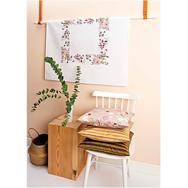 Rico Design Stickpackung Decke Vogel 90x90cm