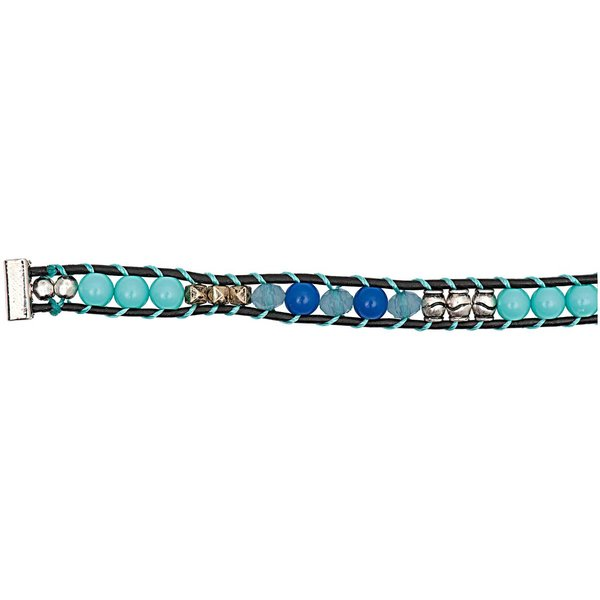 Rico Design Perlenband türkis-blau-silber XS/S 10x160mm