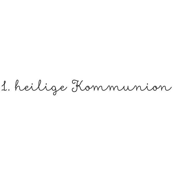 Rico Design Stempel 1. heilige Kommunion 7,5x2cm