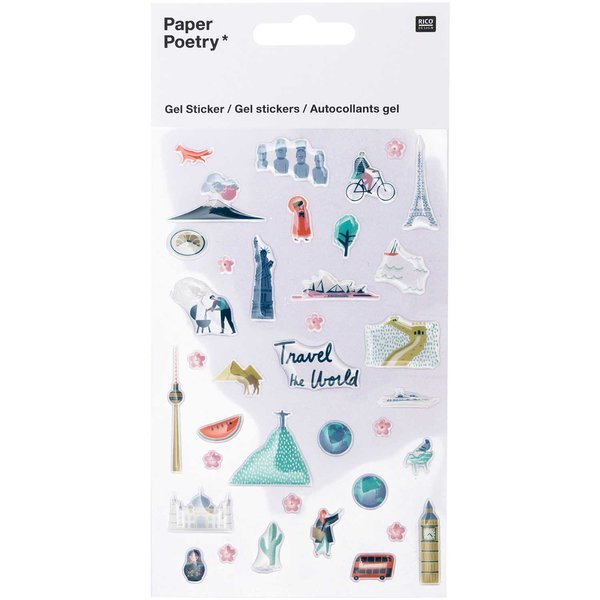 Paper Poetry  Gelsticker Travel the World