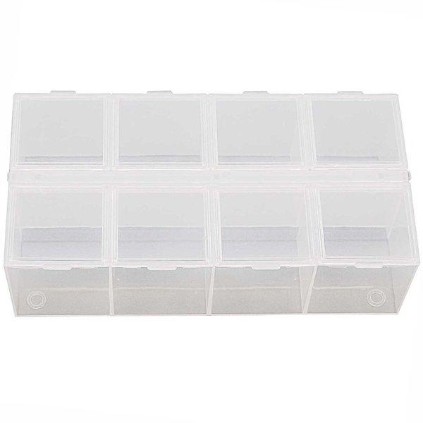 Rico Design Sortierbox mit 8 Fächern 16,6x8,8x5cm