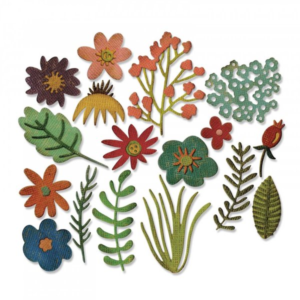 Sizzix Thinlits Die Set Funky Floral by Tim Holtz