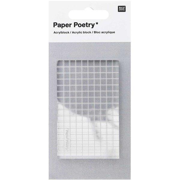 Paper Poetry Acryl-Stempelblock transparent 5x7cm