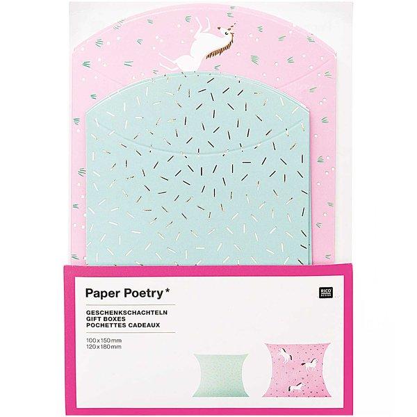 Paper Poetry Geschenkschachteln Einhörner 6 Stück