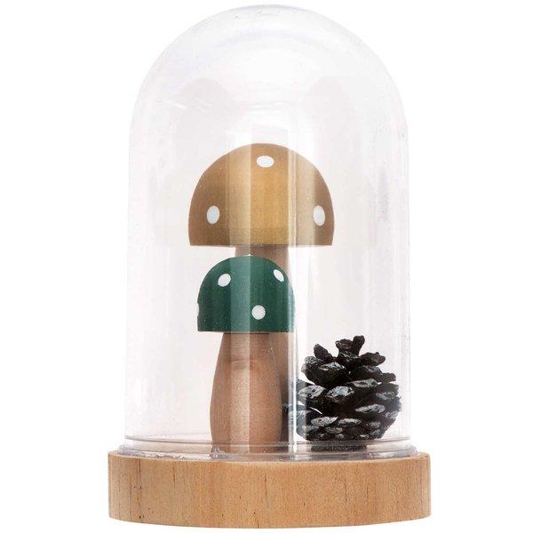 Ohhh! Lovely! Acrylhaube mit Pilz und Zapfen 8x12,5cm