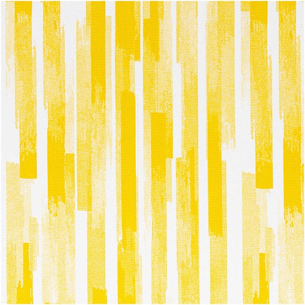 Rico Design Druckstoff Canvas Aloha Streifen weiß-gelb 140cm