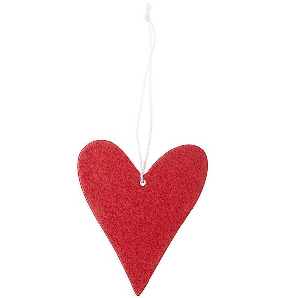 Ohhh! Lovely! Holzhänger Herz rot