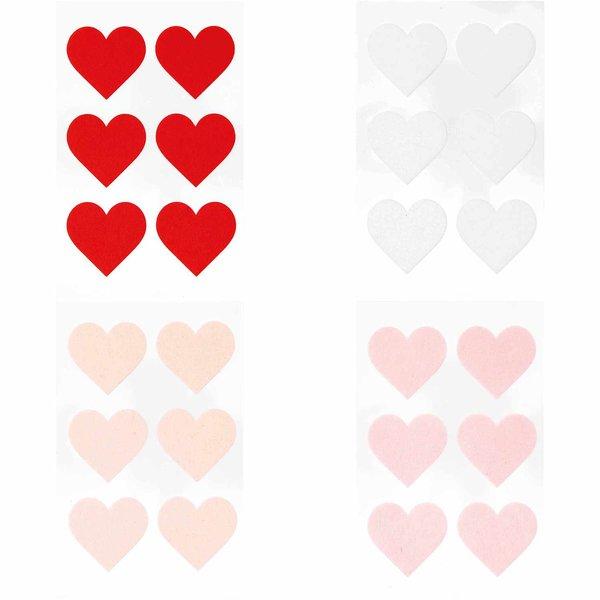 Paper Poetry Filzsticker Herzen groß 1 Blatt