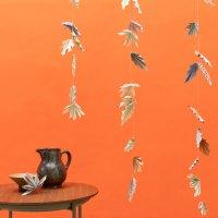 Anleitung Herbstliche Origami-Girlande mit Herbstblättern basteln