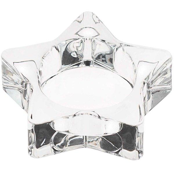 Ohhh! Lovely! Teelichthalter Stern Glas 7,3x2,2x7,3cm