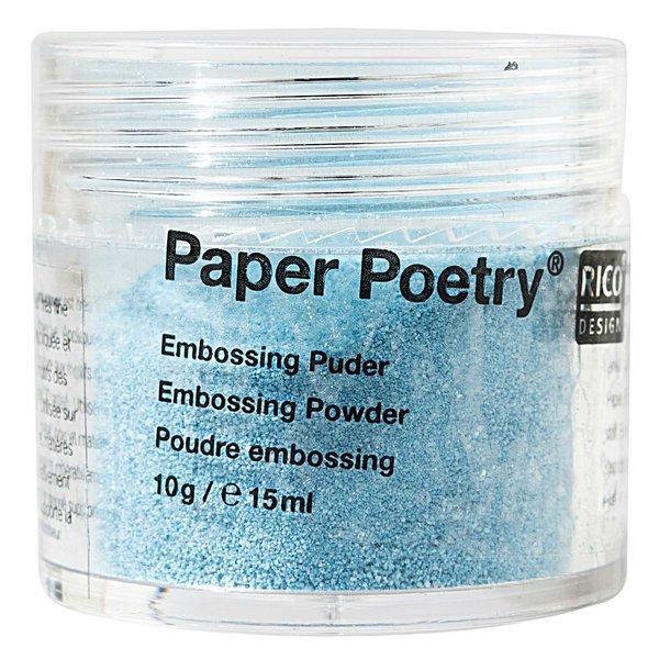 Paper Poetry Embossingpuder türkis perlmutt 10g