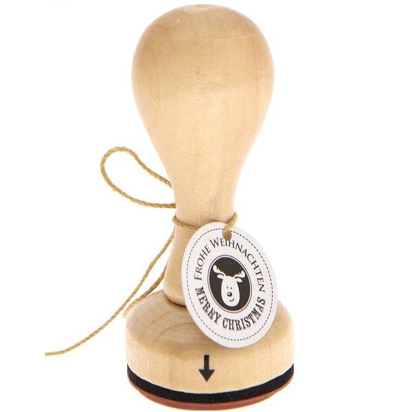Rico Design Stempel Elch Frohe Weihnachten Elch Ø=3,5cm rund