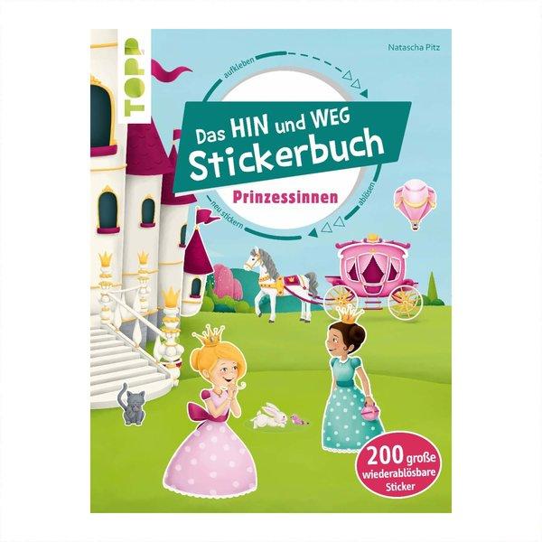 TOPP Das Hin-und-weg-Stickerbuch Prinzessinnen