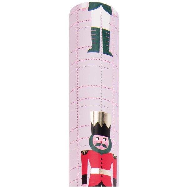 Paper Poetry Geschenkpapier Nussknacker rosa 70cm 2m 80g/m²