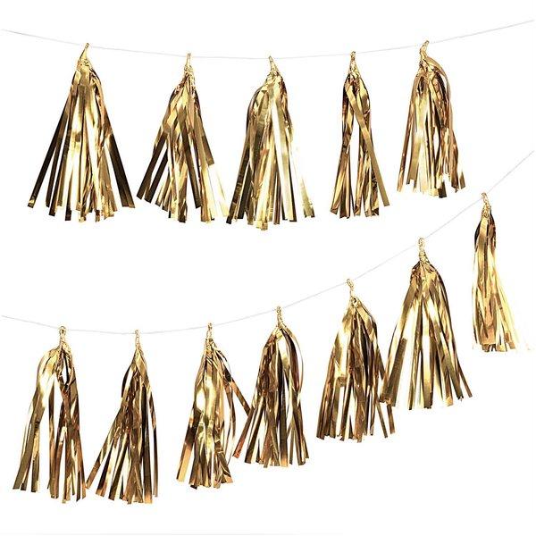 Paper Poetry Girlande Quasten gold 2,8m