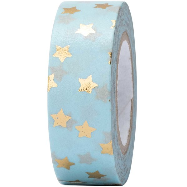Paper Poetry Tape Sterne gold 15mm 10m Hot Foil