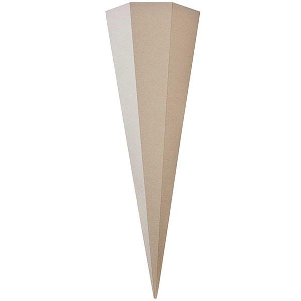 goldbuch Schultüte Rohling grau sechseckig 85cm