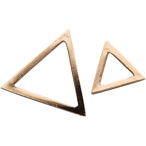 Jewellery Made by Me Anhänger Dreiecke gold 2 Stück