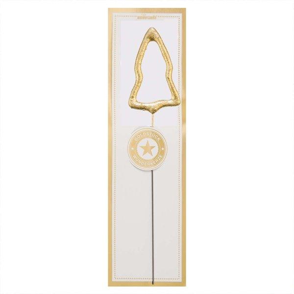 Wondercandle Wunderkerze Symbol Tannenbaum classic gold