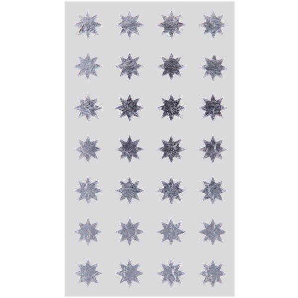 Paper Poetry Sticker Sterne silber 12mm 4 Bogen