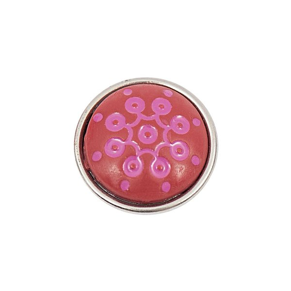 Rico Design Knopf Ornament pink-rot 14mm