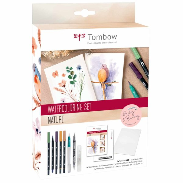 Tombow Watercoloring Set Nature by May & Berry