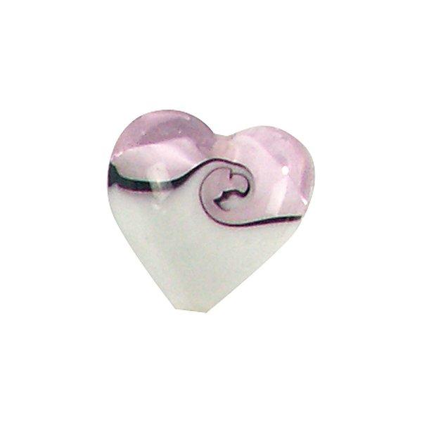 Jewellery Made by Me Herz rosa-weiß 13x13mm Glas 3 Stück