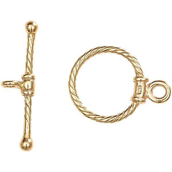 Jewellery Made by Me Knebelverschluss vergoldet 25x20mm 925er Silber