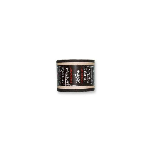 HALBACH Tafelstoff selbstklebend schwarz 6cm 4m