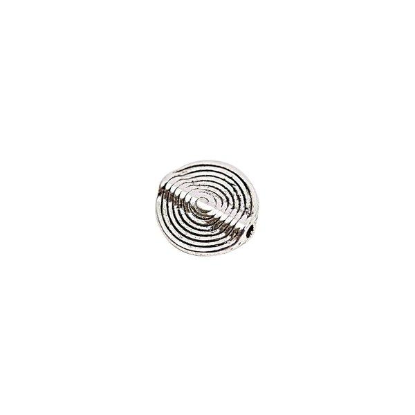 Rico Design 5 Linsen Spiralmuster silber 15mm