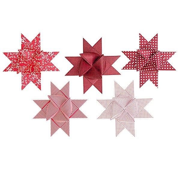 Paper Poetry Fröbelstreifen XL rot-weiß 40 Stück