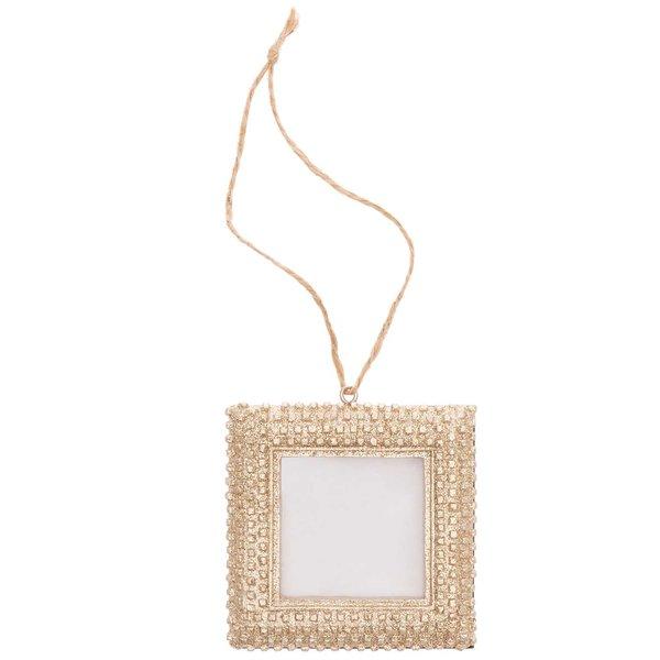 Ohhh! Lovely! Hänger Bilderrahmen aus Polyresin gold 7x7cm