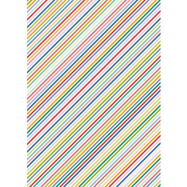 Rico Design Paper Patch Papier Streifen mehrfarbig 30x42cm