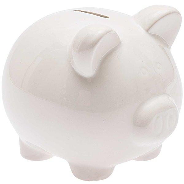 Sparschwein zum Bemalen weiß 14,5x13cm