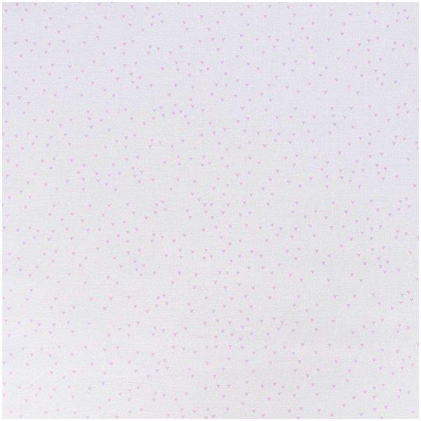 Rico Design Stoff Dreiecke weiß-rosa 50x140cm