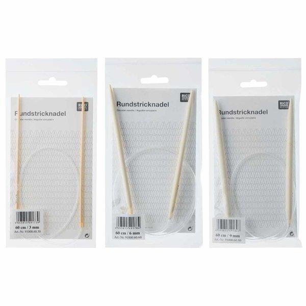 Rico Design Rundstricknadel 60cm Bambus