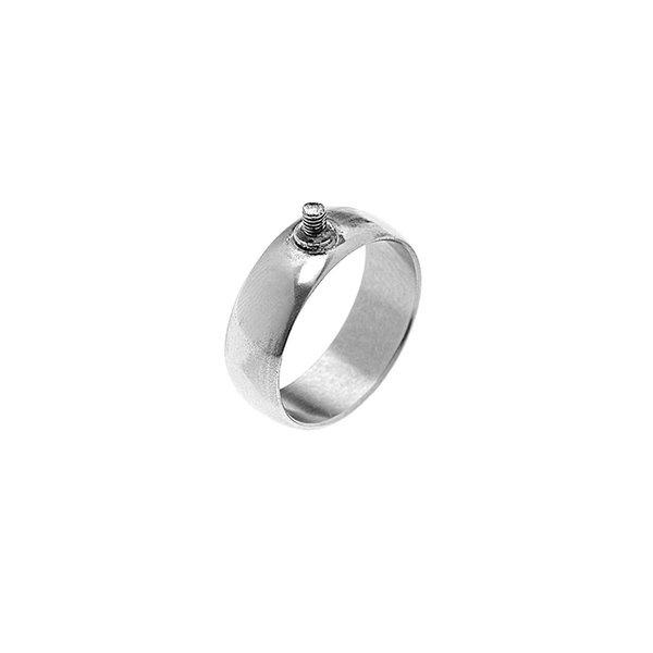 Rico Design Ring breit 19,5mm Schraubgewinde silber