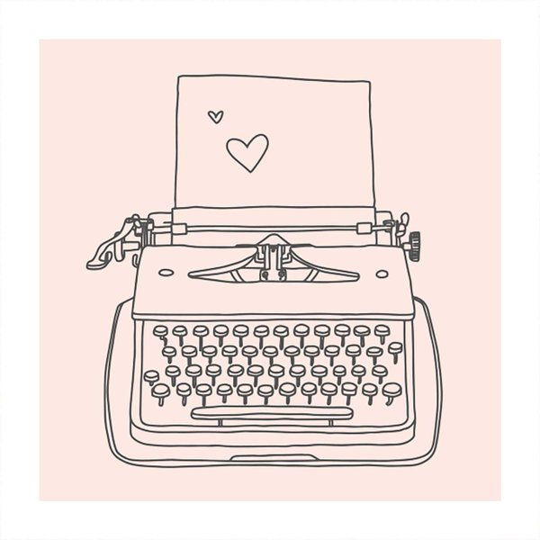 May&Berry Stempel Schreibmaschine nude 45x45mm