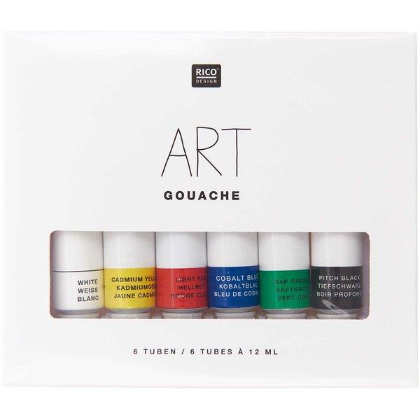 Rico Design ART Gouache Set Basic 6x 12ml