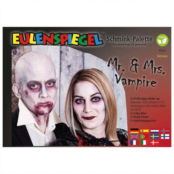 Eulenspiegel Schminkpalette Mr. & Mrs. Vampire