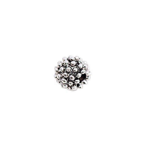 Rico Design 15 Perlen Ornament silber 7mm
