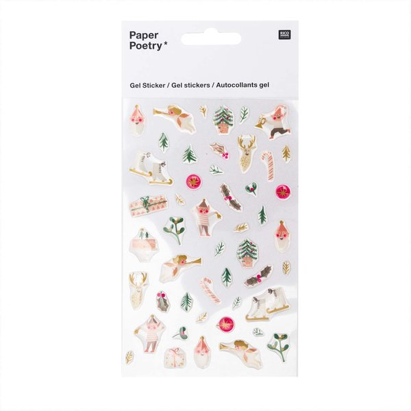 Paper Poetry Gelsticker Jolly Christmas pastell