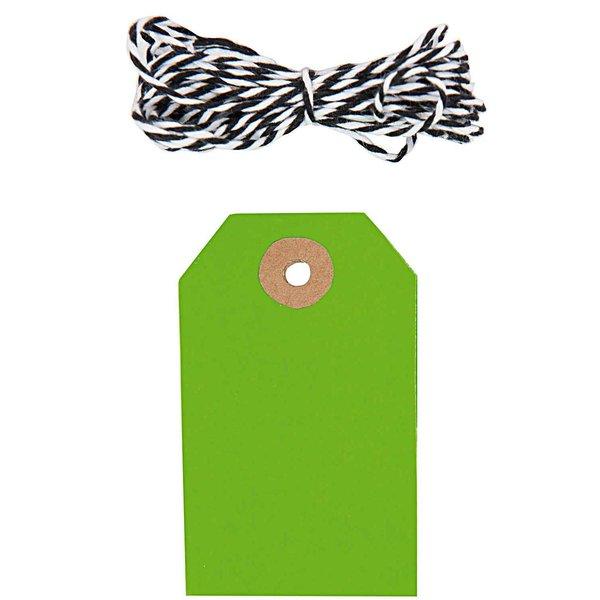 Paper Poetry Geschenkanhänger eckig neongrün 10 Stück