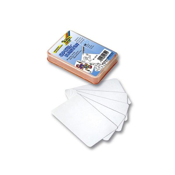 folia Spielkarten zum Selbstgestalten 6,5x10cm 36 Karten