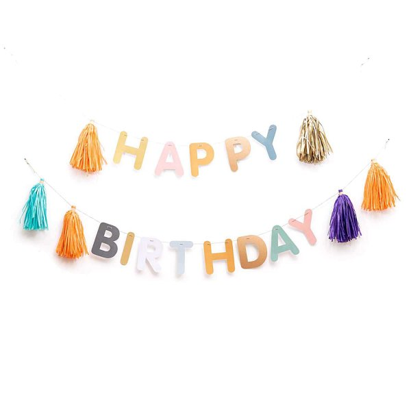 Paper Poetry DIY-Girlande Happy Birthday 3m