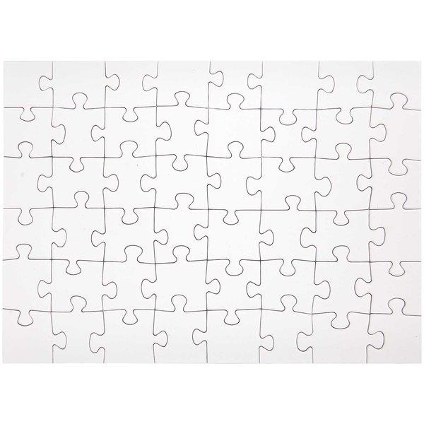 Rico Design Puzzle zum Selbstbemalen A4 48 Teile